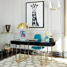 the jonathan adler caine desk gives a sense of new traditionalism