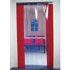pvc door curtain doorway pvc curtains inc rail ese direct