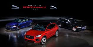 jaguar e pace sets foot on us soil along with xjr575 and xf