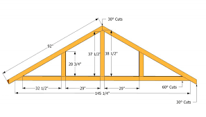 Plans For Building A Firewood Shed by How To Build A Roof For A 12x16 Shed Howtospecialist How To