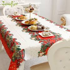 christmas tablecloth zonaflor christmas home kitchen dining table decorations christmas