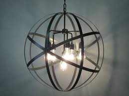 Orb Ceiling Light Industrial Orb Chandelier Ceiling Light Sphere 24 With Clear Glass