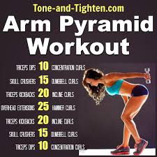 arm pyramid workout the best exercises to tone and tighten your