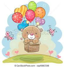 teddy balloons eps vector of teddy with balloons teddy in