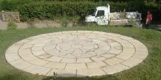 Circular Patio Kit by Brackla Patio Centre Aztec Sun Circle Paving Slabs Stone Patio