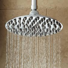 bostonian rainfall nozzle shower head with extended arm bathroom