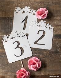 table numbers for wedding diy wedding table numbers lia griffith