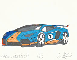 lamborghini car drawing lamborghini aventador r gt gulf by gelfanddesign on deviantart