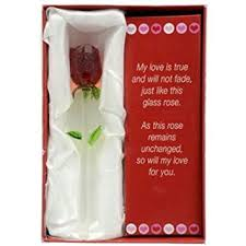 glass roses forever glass with poem valentines day or