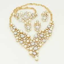 italian jewellery designers 2017 new pearl jewelry sets gold plating jewelry