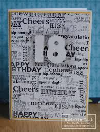 18th birthday card using stampin u0027 up sentiments with