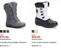 womens boots kohls kohl s 10 of 50 cold weather stuff plus free shipping and