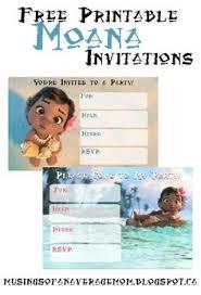 moana invitation and free thank you card printable invites moana