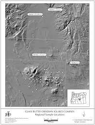Oregon Idaho Map by Obsidian Source Maps United States