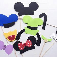 mickey mouse photo booth props mickey mouse and friends photo booth prop from letsgetdecorative