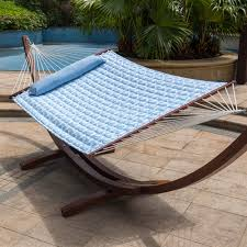 15 feet heavy duty steel hammock stand two person quilted fabric