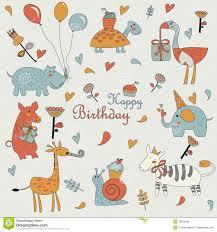 happy birthday greeting card stock vector image 35634396