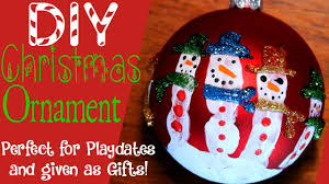 homemade christmas crafts ornaments snowman handprint youtube