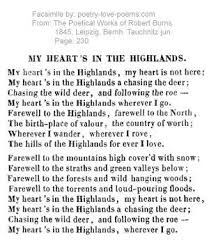 wedding quotes robert burns my heart s in the highlands by robert burns scotland my