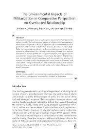 Inno Infr by The Environmental Impacts Of Militarization In Comparative