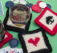 7 knitted coasters for tabletop protection u0026 decor