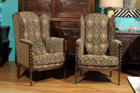 Pair Of Chairs For Living Room by Pair Of Antique Barley Twist Upholstered Chairs At 1stdibs