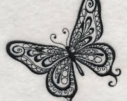 butterfly towel etsy