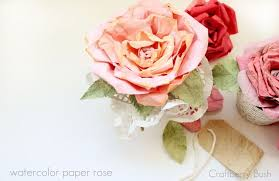 watercolor paper flower tutorial craftberry bush love blooms faux mulberry watercolor paper rose