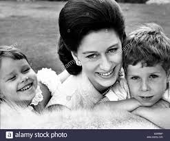 Portrait Of Princess Margaret And Her Children Stock Photo