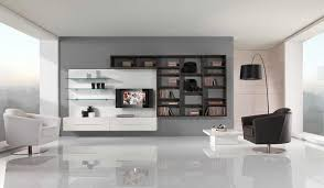 Swivel Chair Living Room Design Ideas Interior Black White Floating Wall Shelving Living Room With