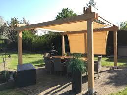 diy paviljoen pergola schaduwdoek terrasoverkapping met zonnedoek