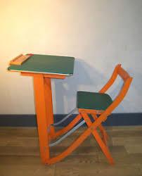 bureau enfant pliant bureau pupitre enfant pliable pliant école rangement vintage design