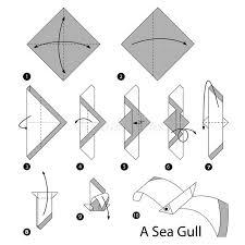 origami gabbiano istruzioni graduali come rendere ad origami un gabbiano di mare