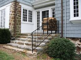 Exterior Stair Handrail Kits Metal Stair Railing That Is Delicate For Modern Home House