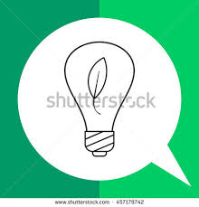 eco friendly renewable energy light bulbs stock illustration