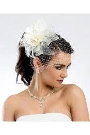 voilette mariage voilette bibi mariage fleur en tissu ivoire accessoires coiffure