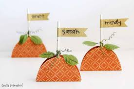 paper pumpkin place cards step by step crafts unlaeshed