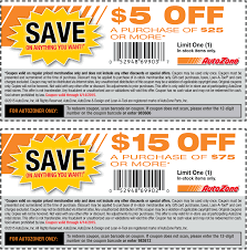 pinned march 22nd 5 off 25 u0026 more at auto zone coupon via the