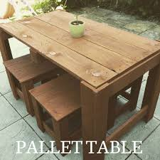 Outdoor Pallet Table 33 Diy Pallet Garden And Furniture Ideas