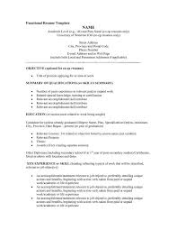 Resume Format Example by Functional Resume Template Word