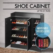 Shoe Cabinet Melbourne Furniture Brand New Wooden Mdf Shoe Cabinet Storage Rack 21 Pairs Shoes