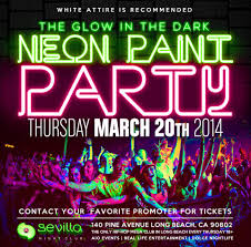 glow paint party glow in the paint party tickets the sevilla nightclub