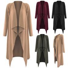 new la s open waterfall jacket womens long length sleeved coat