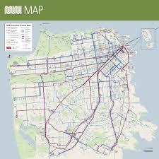 Bus Map San Francisco by San Francisco Muni Maplets