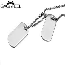 engraved dog tags for men gagaffel custom engraved necklace stainless steel dog tag necklace