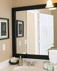 How To Frame A Bathroom Mirror Picture Frame Bathroom Mirror Home Design Ideas