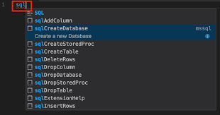 Sql Server Drop Table If Exists by Use The Visual Studio Code Mssql Extension For Sql Server