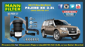 mitsubishi pajero 2016 provent oil catch can kit for mitsubishi pajero nx from late 2016