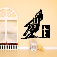 compare prices on cowboy wall decor online shopping buy low price zuczug 55 55cm toilet cat wall stickers cowboy mustang 3d removable wall decals home decor