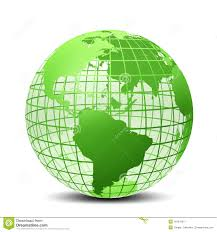 transparent the globe green color stock images image 18797004